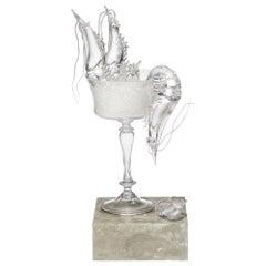 Still Life with Shrimp, a Clear Glass Still Life Art Work by Elliot Walker