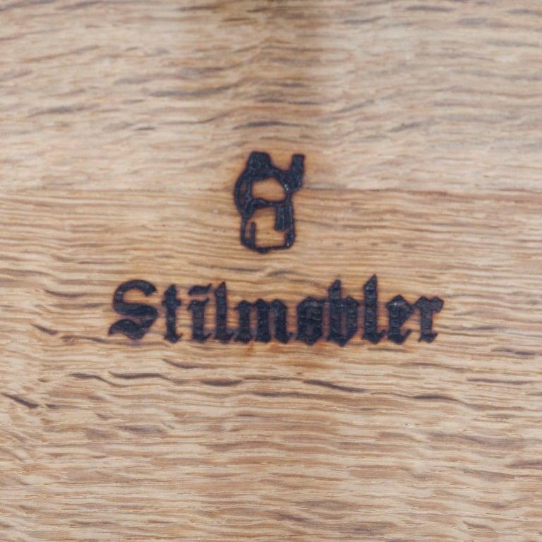 Stilmobler Oak Stool Set of 2 For Sale 4