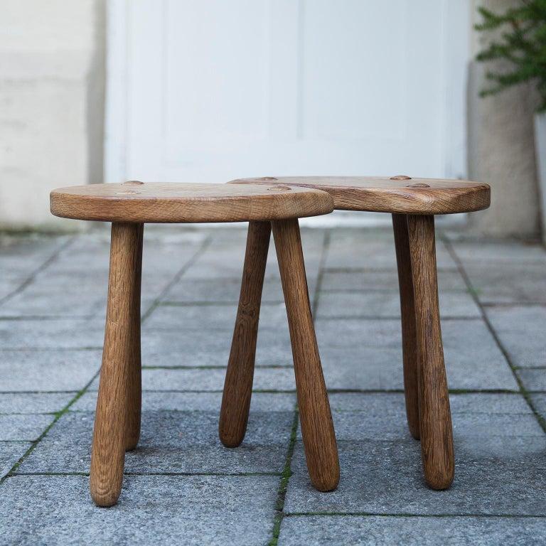 Stilmobler Oak Stool Set of 2 For Sale 1