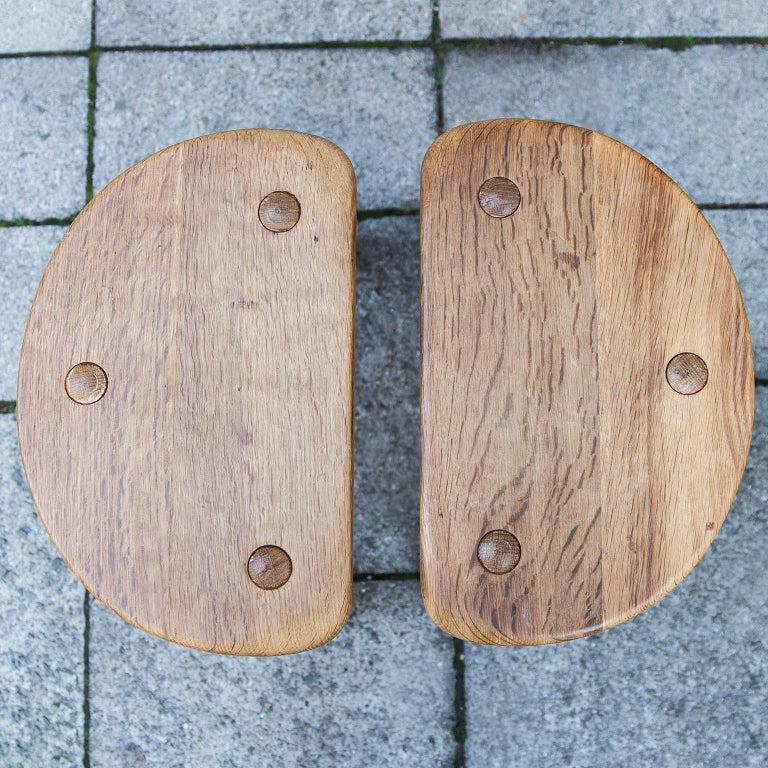 Stilmobler Oak Stool Set of 2 For Sale 2
