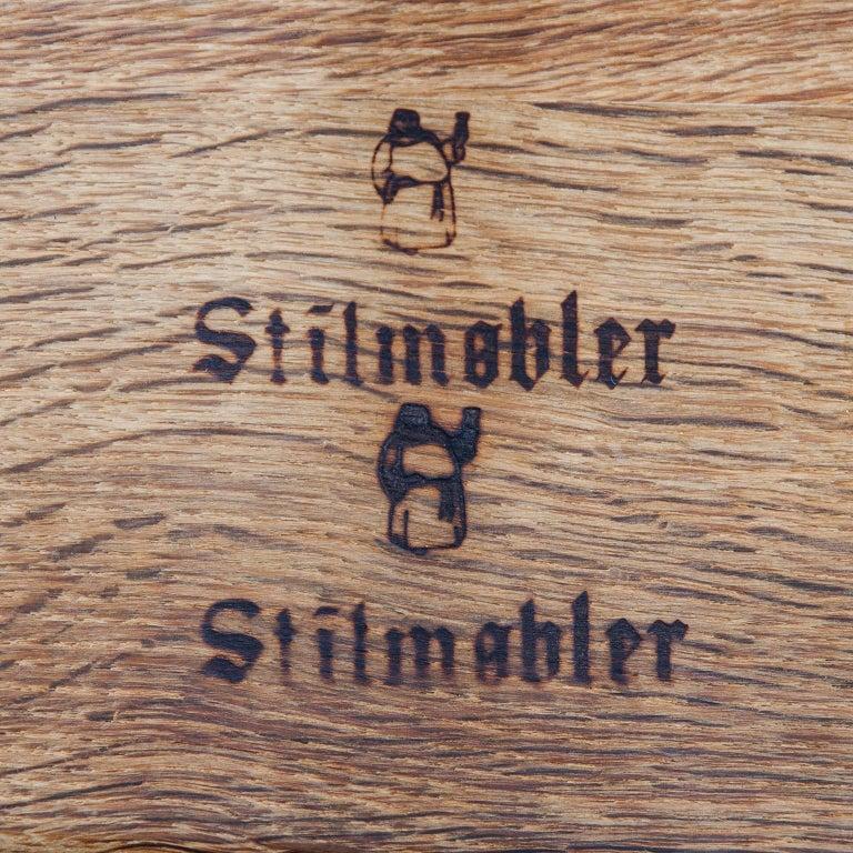 Stilmobler Oak Stool Set of 2 For Sale 3