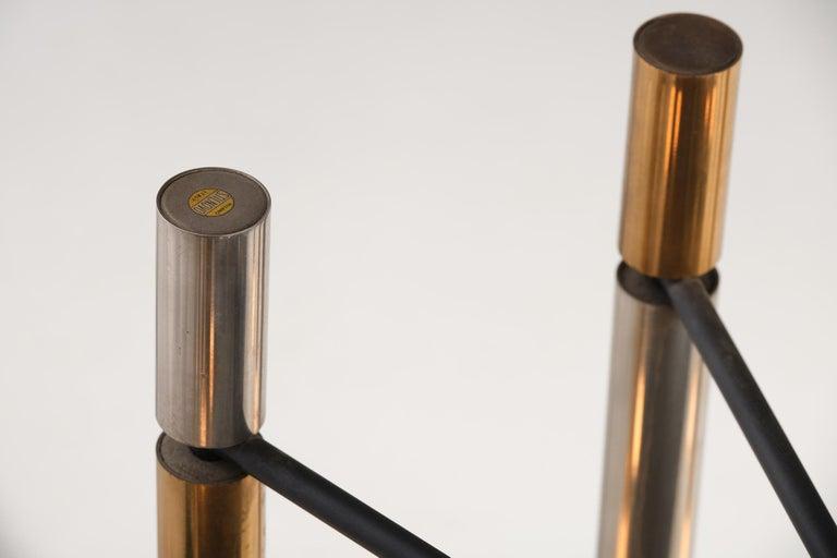 Stilnovo 12-Lights Chandelier in Brass and Aluminium, 1970 circa 8