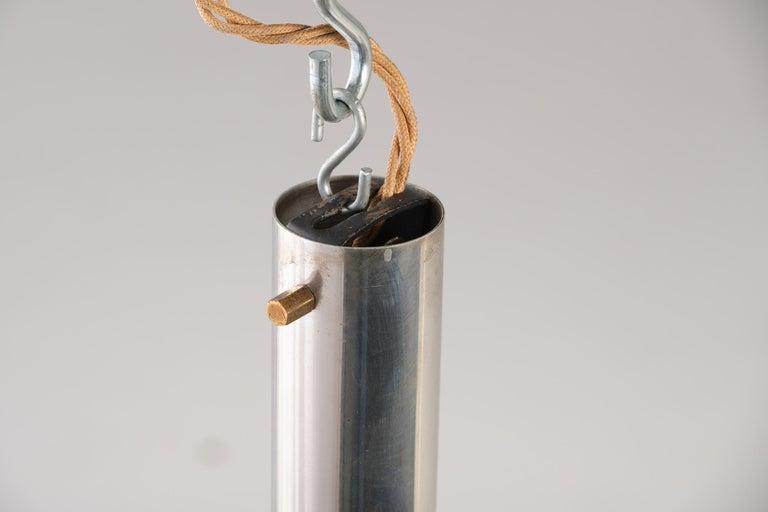 Stilnovo 12-Lights Chandelier in Brass and Aluminium, 1970 circa 11
