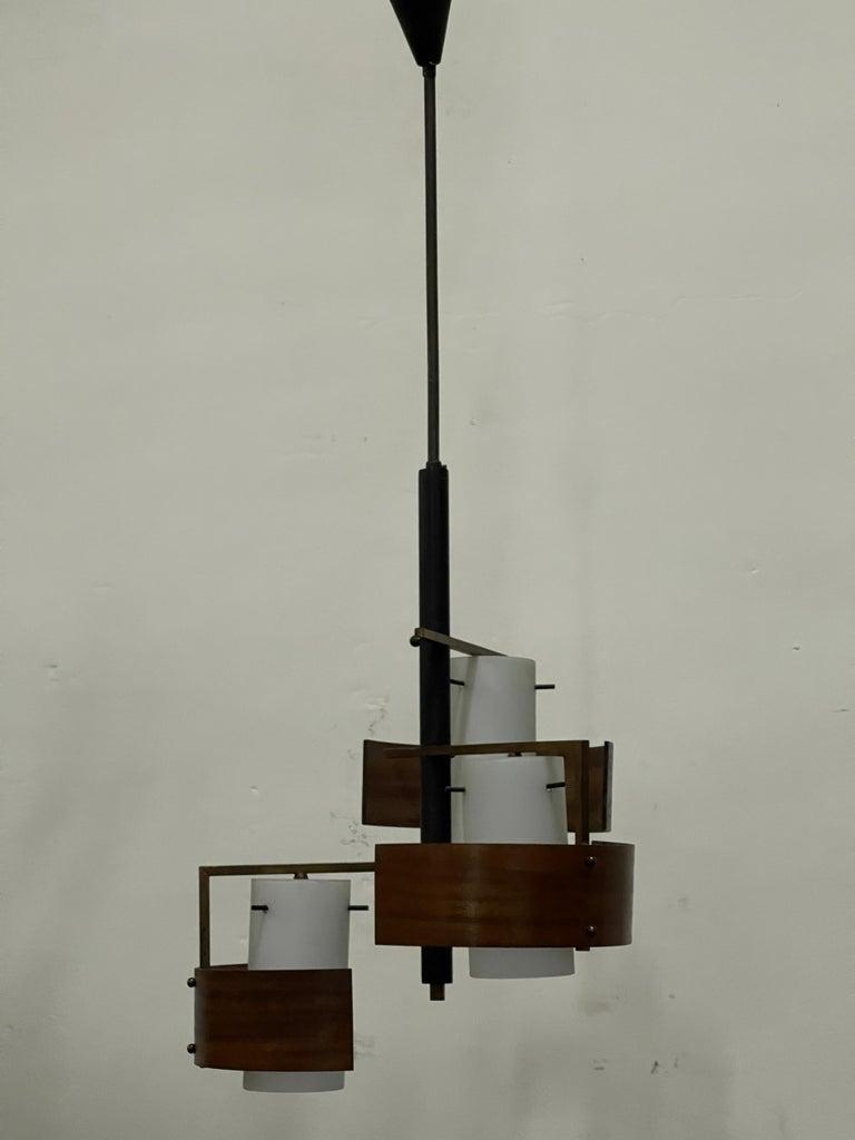Modern Stilnovo 3 Lights Chandelier For Sale