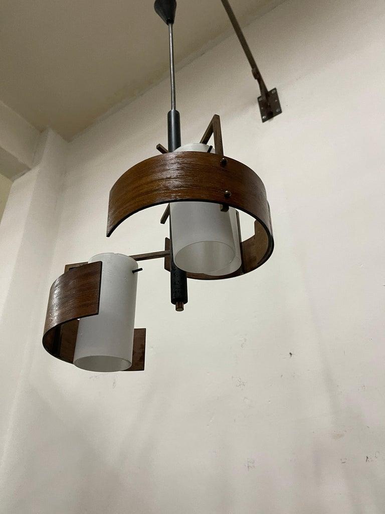 Stilnovo 3 Lights Chandelier For Sale 2