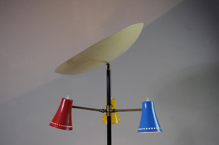 Stilnovo, Adjustable Tripod Floor Lamp, Italy, 1950 For Sale 2