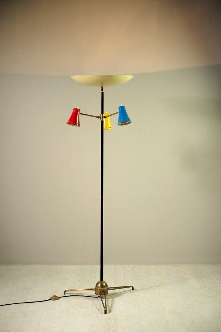 Stilnovo, Adjustable Tripod Floor Lamp, Italy, 1950 For Sale 3