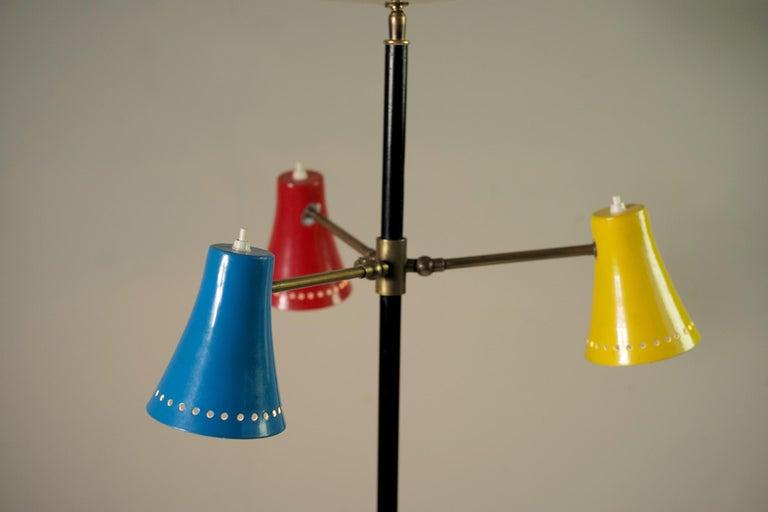 Stilnovo, Adjustable Tripod Floor Lamp, Italy, 1950 For Sale 4