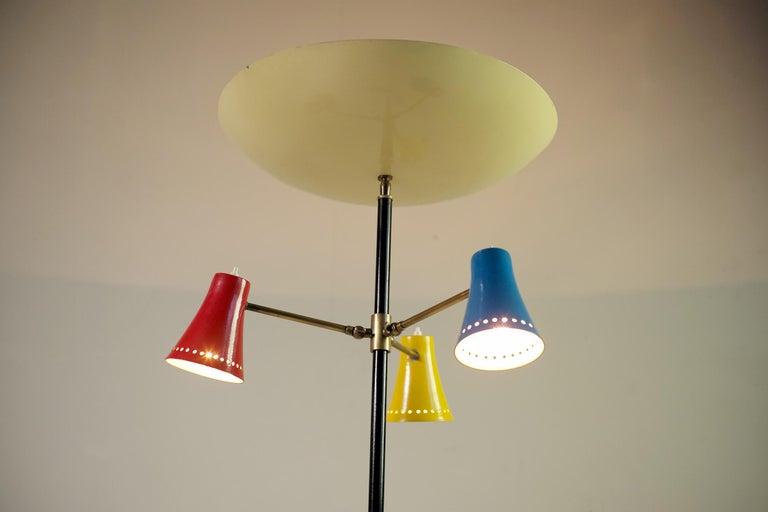 Stilnovo, Adjustable Tripod Floor Lamp, Italy, 1950 For Sale 5