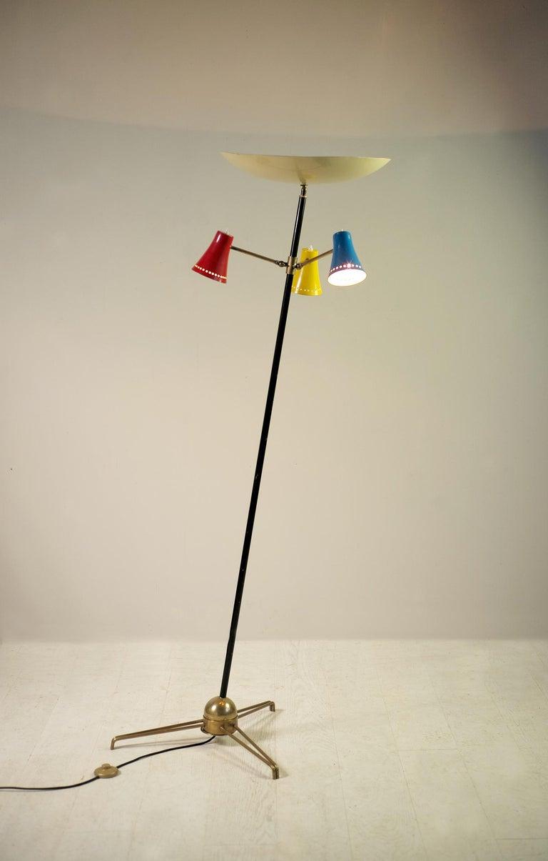 Stilnovo, Adjustable Tripod Floor Lamp, Italy, 1950 For Sale 6