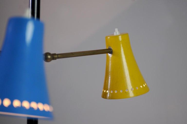 Stilnovo, Adjustable Tripod Floor Lamp, Italy, 1950 For Sale 1