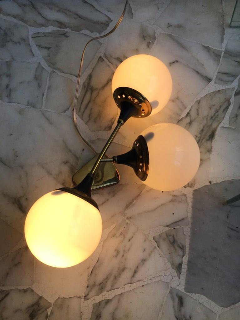 Stilnovo Applique Glass Brass, 1950, Italy  For Sale 1