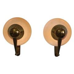 Stilnovo Big Pair of Rare Adjustable Wall Lights, Model No. B. 4917
