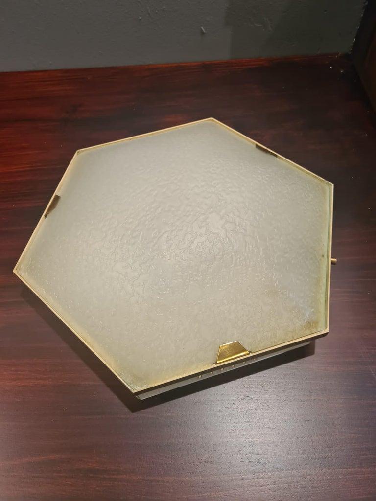 Modern Stilnovo Ceiling Lamp For Sale