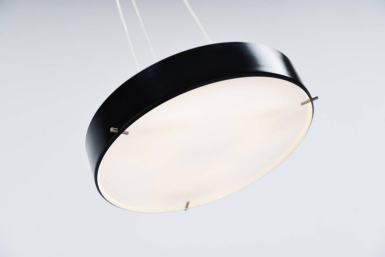 Cold-Painted Stilnovo Ceiling Lamp Model 288 by Bruno Gatta, Italy 1959