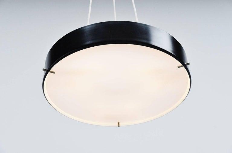 Aluminum Stilnovo Ceiling Lamp Model 288 by Bruno Gatta, Italy 1959