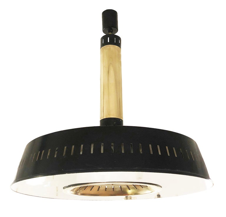 Mid-Century Modern Stilnovo Ceiling Light, Italy, 1960s For Sale