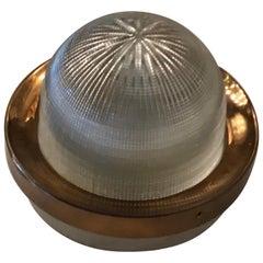 Stilnovo Ceiling Light/Sconce Brass Glass Metal, 1958, Italy