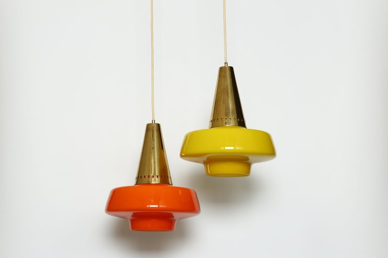 Mid-Century Modern Stilnovo Ceiling Pendant For Sale