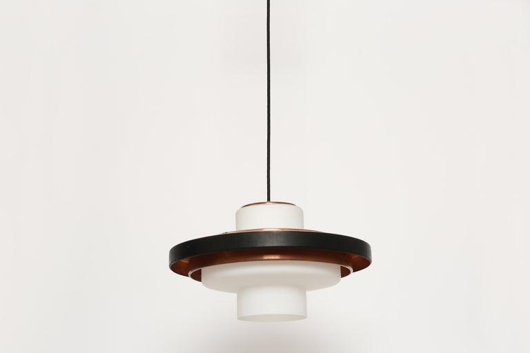 Stilnovo ceiling pendant model 1219. Italy 1960s. Two pendants available.
