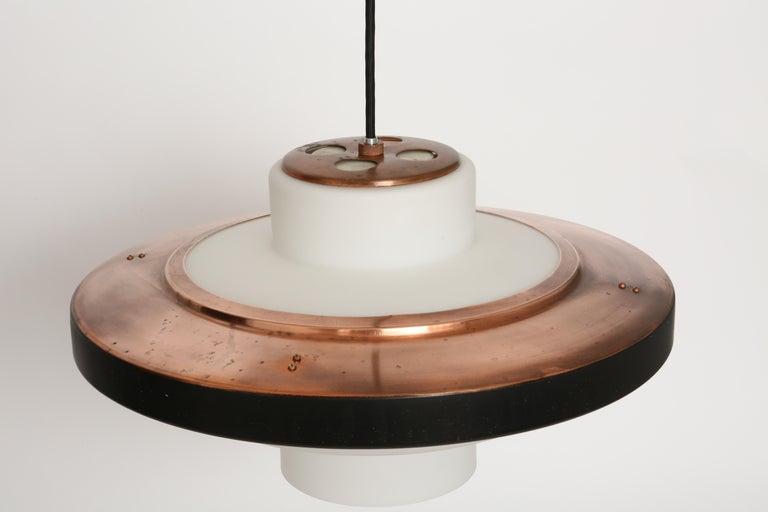 Italian Stilnovo ceiling pendant model 1219 For Sale