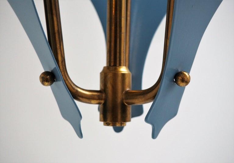 Stilnovo Chandelier by Bent Karlby for Lyfa, Danish Design from the 1950s For Sale 3