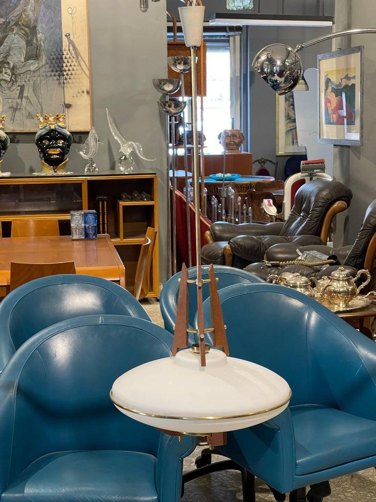 Modern Stilnovo Chandelier For Sale
