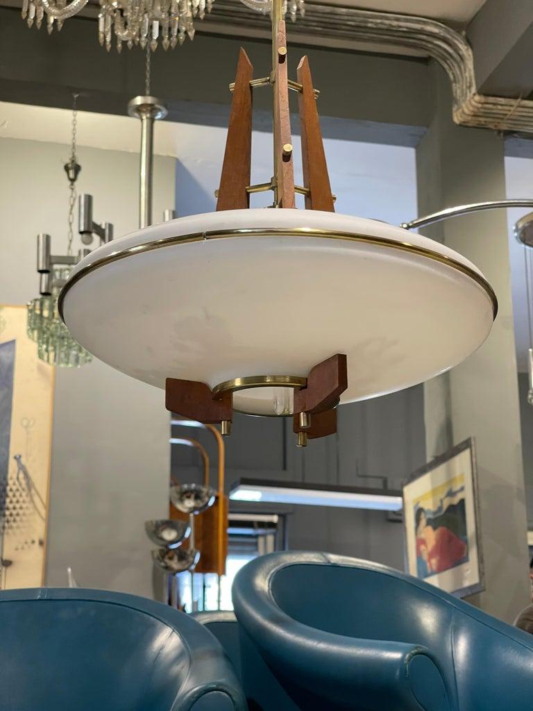 Italian Stilnovo Chandelier For Sale