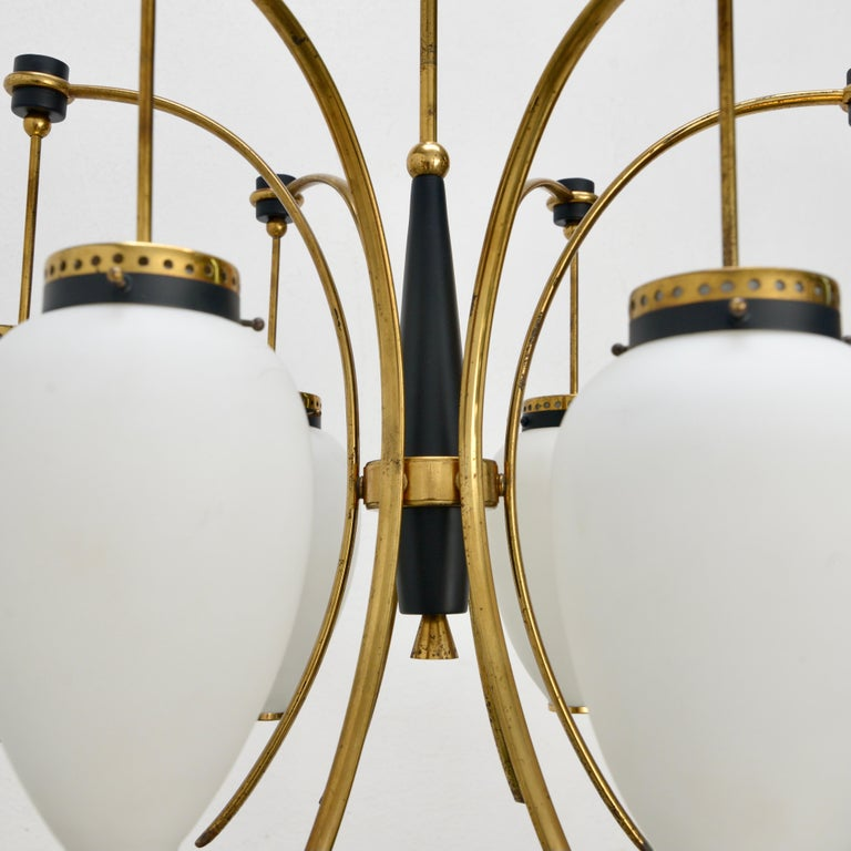 Stilnovo Chandelier In Good Condition For Sale In Los Angeles, CA