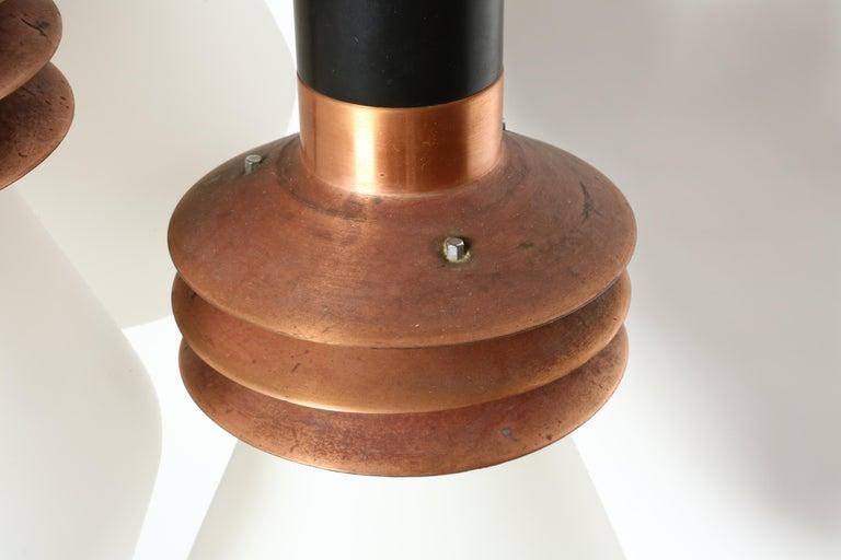 Copper Stilnovo Chandelier Model 1253 For Sale
