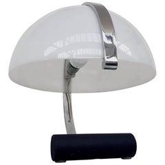 Stilnovo Chrome and Plexiglass Space Age Table Lamp for Artimeta, 1970s
