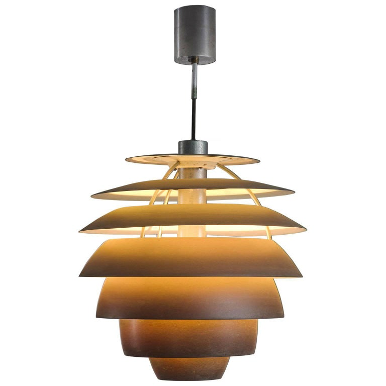 Stilnovo Coppered Pendant, circa 1960