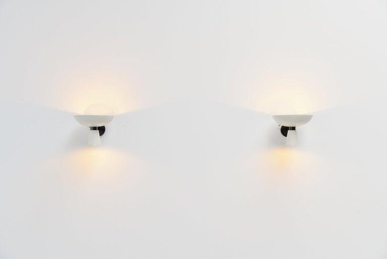 Mid-Century Modern Stilnovo Diabolo Wall Lamps, Italy, 1950 For Sale