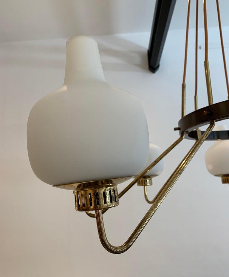 Stilnovo Eight-Light Chandelier, 1950s For Sale 3