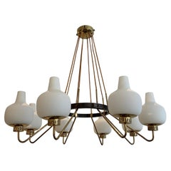 Stilnovo Eight-Light Chandelier, 1950s