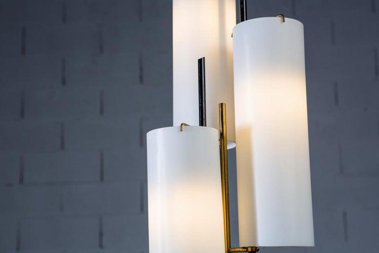 Brass Stilnovo Floor Lamp, Italy, 1950s