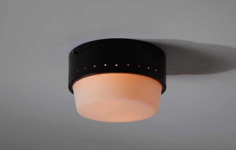 Mid-Century Modern Stilnovo Flush Mount Ceiling Light For Sale