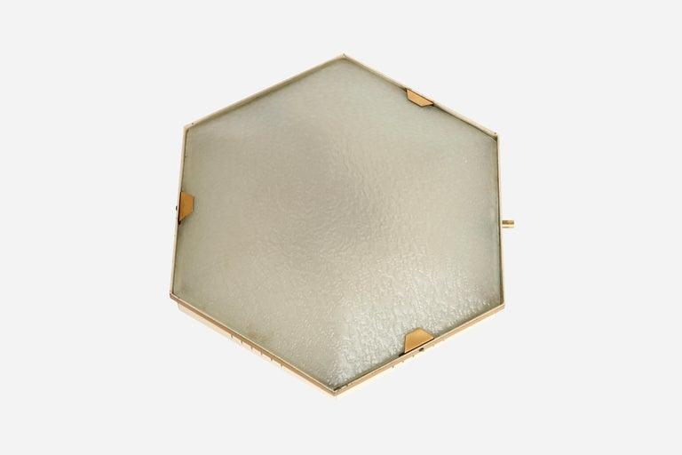 Mid-Century Modern Stilnovo Flush Mount Ceiling Light Model 1183 For Sale
