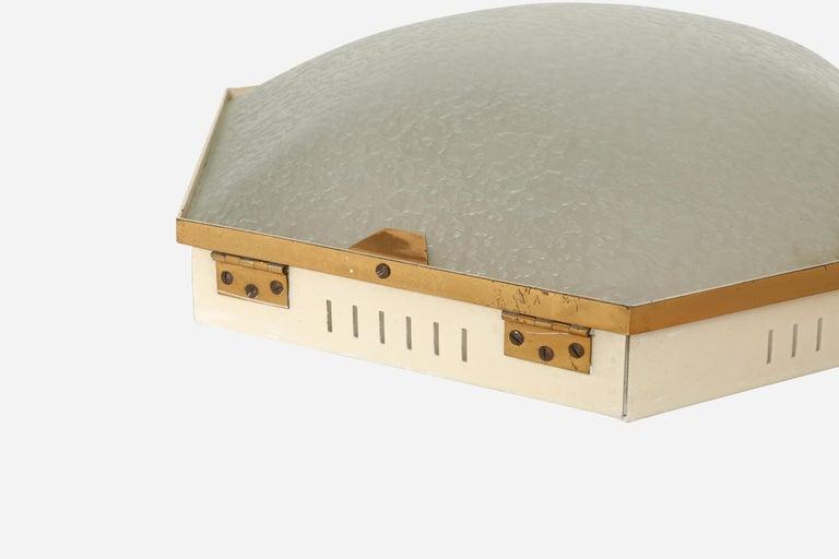Italian Stilnovo Flush Mount Ceiling Light Model 1183 For Sale