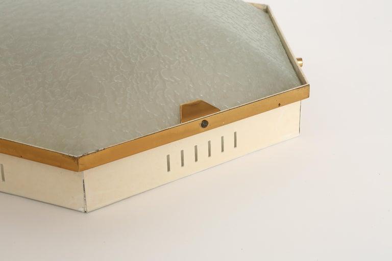 Mid-20th Century Stilnovo Flush Mount Ceiling Light Model 1183 For Sale