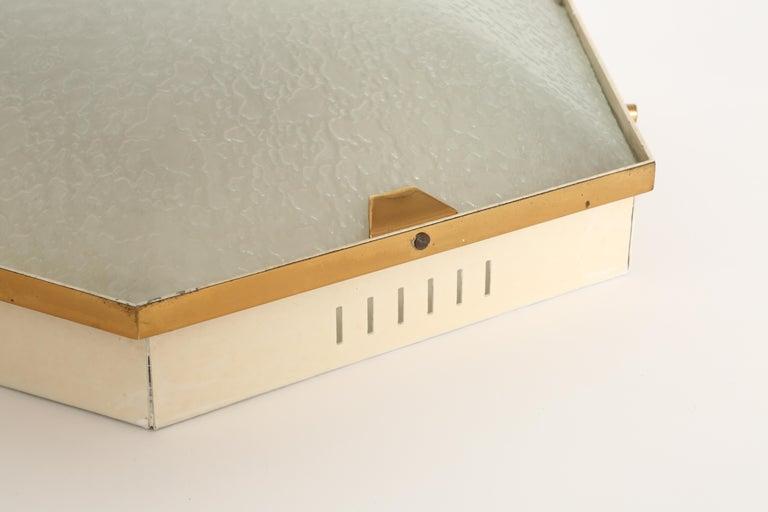 Glass Stilnovo Flush Mount Ceiling Light Model 1183 For Sale