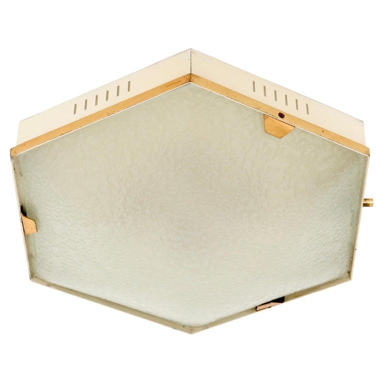 Stilnovo Flush Mount Ceiling Light Model 1183 For Sale