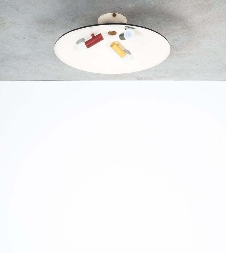 Stilnovo Flush Mount Ceiling Lights circa 1950 For Sale 7