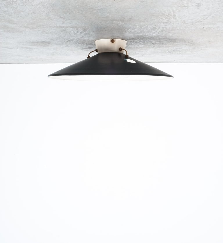 Stilnovo Flush Mount Ceiling Lights circa 1950 In Good Condition For Sale In Vienna, AT