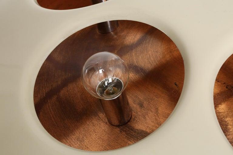Copper Stilnovo Flush Mount Model 1243 For Sale