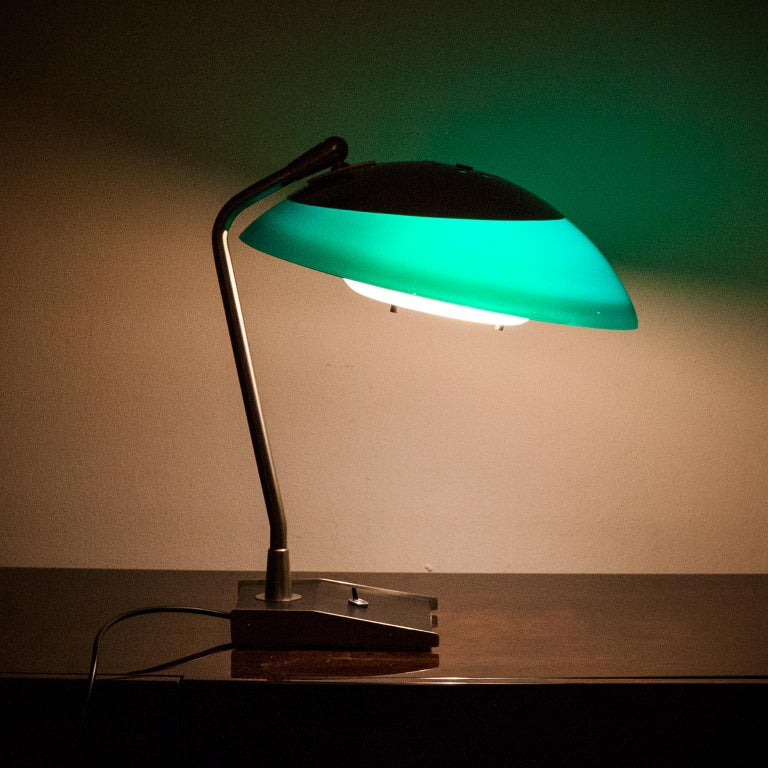 Stilnovo Green Perspex Table Lamp Italy 1960s For Sale 4