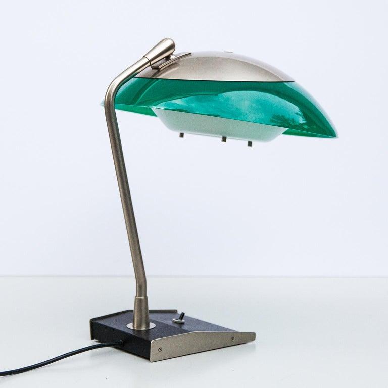 Italian Stilnovo Green Perspex Table Lamp Italy 1960s For Sale
