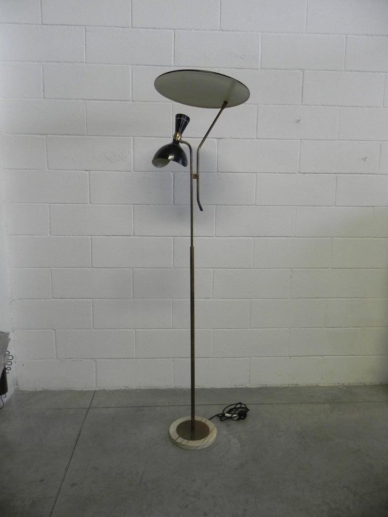 Mid-Century Modern Stilnovo Italian Adjustable Floor Lamp For Sale