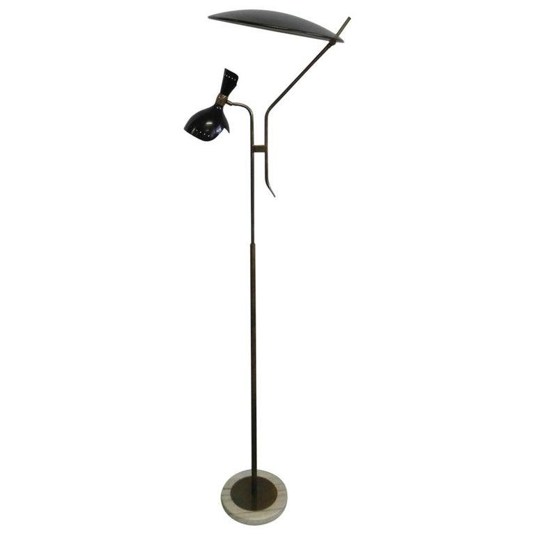 Stilnovo Italian Adjustable Floor Lamp For Sale