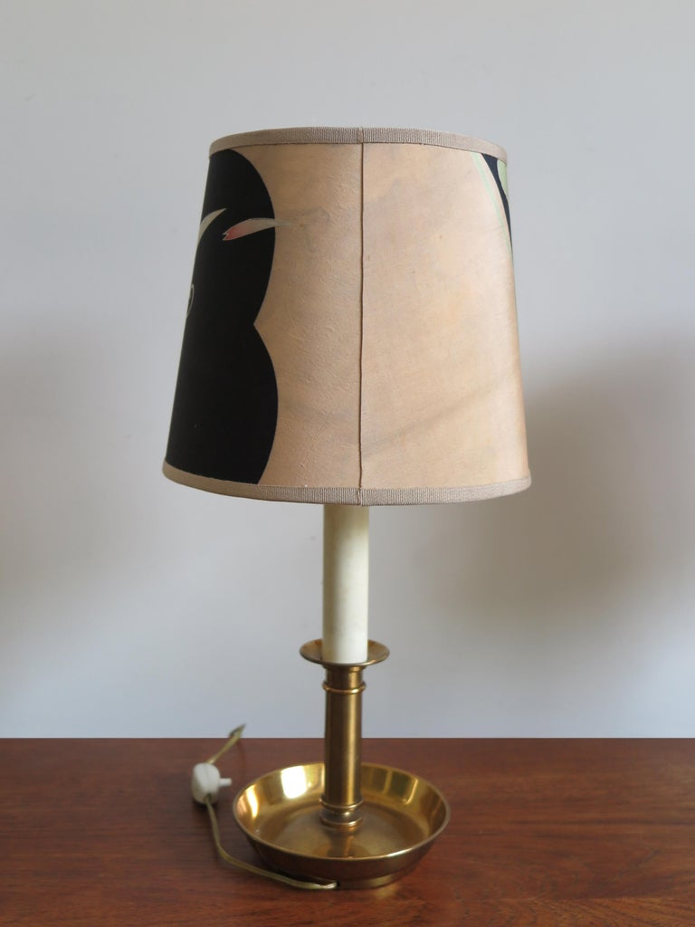 Stilnovo Italian Lampshades or Table Lamps with Old Kimono, 1960s In Good Condition For Sale In Modena, IT